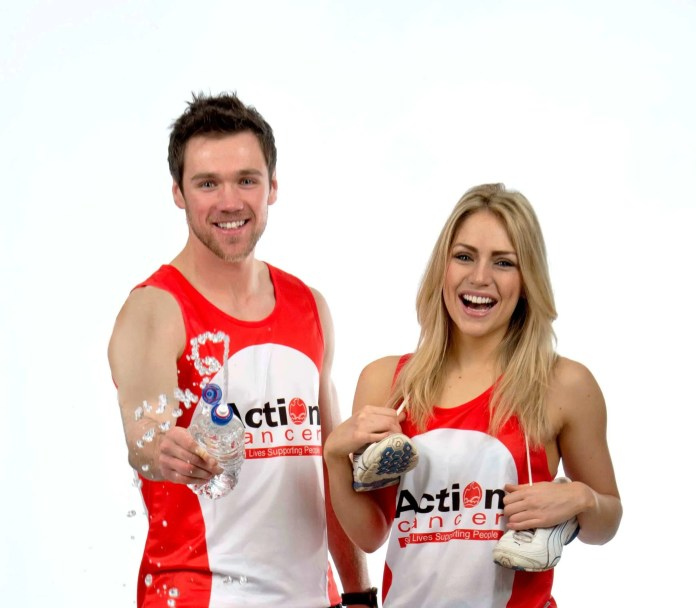enny Curran and Tony O'Neill urge you to join 'Team Action Cancer' in the 2015 Belfast City Marathon