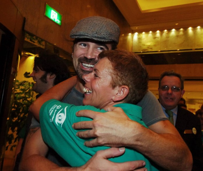 Colin Farrell meets Spectal Olympics in China