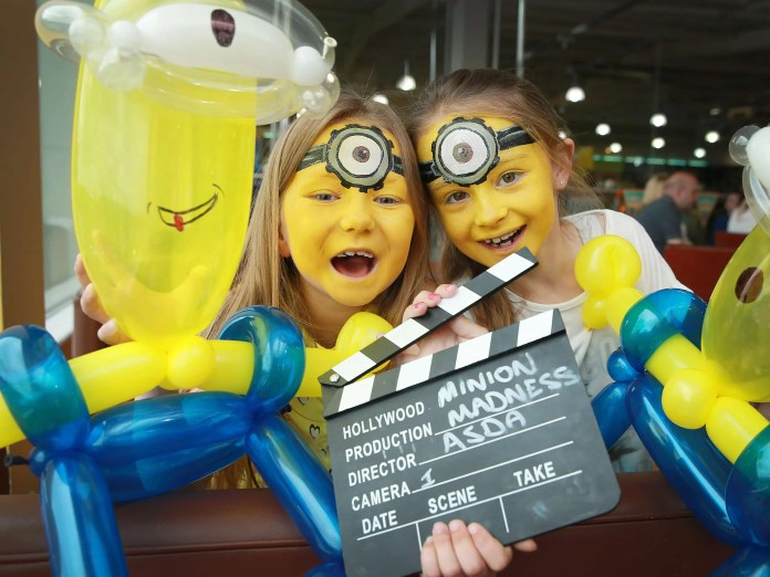 "Katie and Sophie are ""Two in a Minion"" at Asda Party"