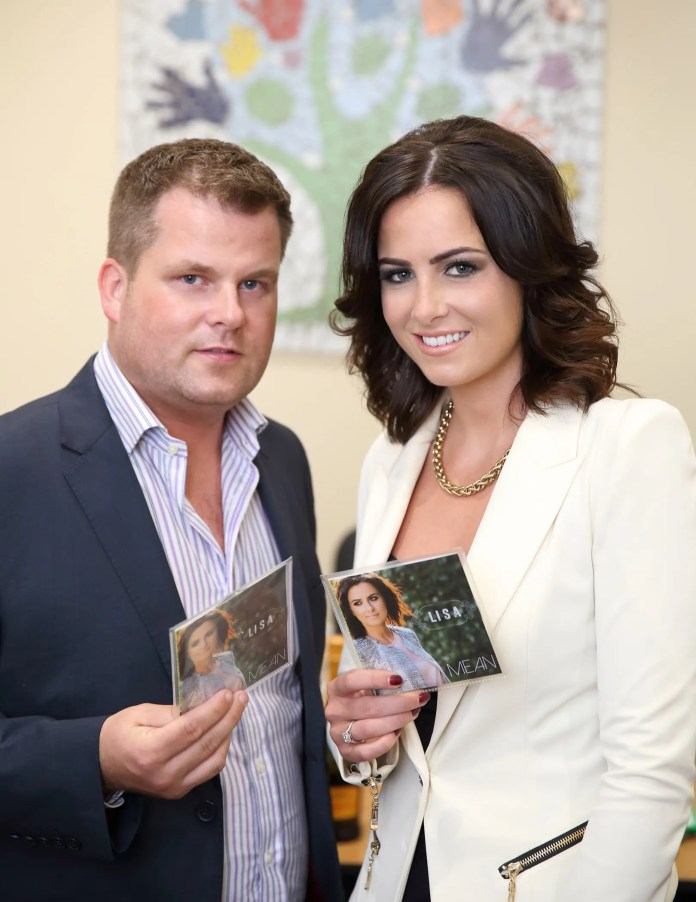 Country and Western singer Lisa McHugh pictured with Brian Maguire from PIPS