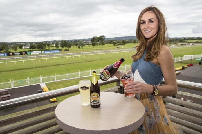 Eimhear Daly, Magners Brand Manager for Tennent's NI, samples the new Magners Forbidden Flavours that are now available in Cloudy Lemon and Strawberry & Lime.