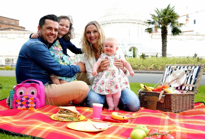 Mandatory Credit - Picture by /  Kelvin Boyes  / Press Eye  Friday 10th July 2015 CAPTION: Pictured kick starting Golden CowÕs ÔGolden Days OutÕ initiative are Pete, Julia, Ivana and Elayna Snodden at Botanic Gardens, Belfast. With 7 in 10 people claiming their favourite way to spend time with their loved ones is over some quality food, Northern IrelandÕs favourite butter is encouraging families to get out and about together this summer   Danielle Scullion // Senior Account Executive // Smarts Communicate E. danielle.scullion@smartscommunicate.com   W. www.smartscommunicate.com   T.  +44 (0) 28 9039 5528 A.  Smarts House, 157-159 High Street, Holywood, BT18 9HU