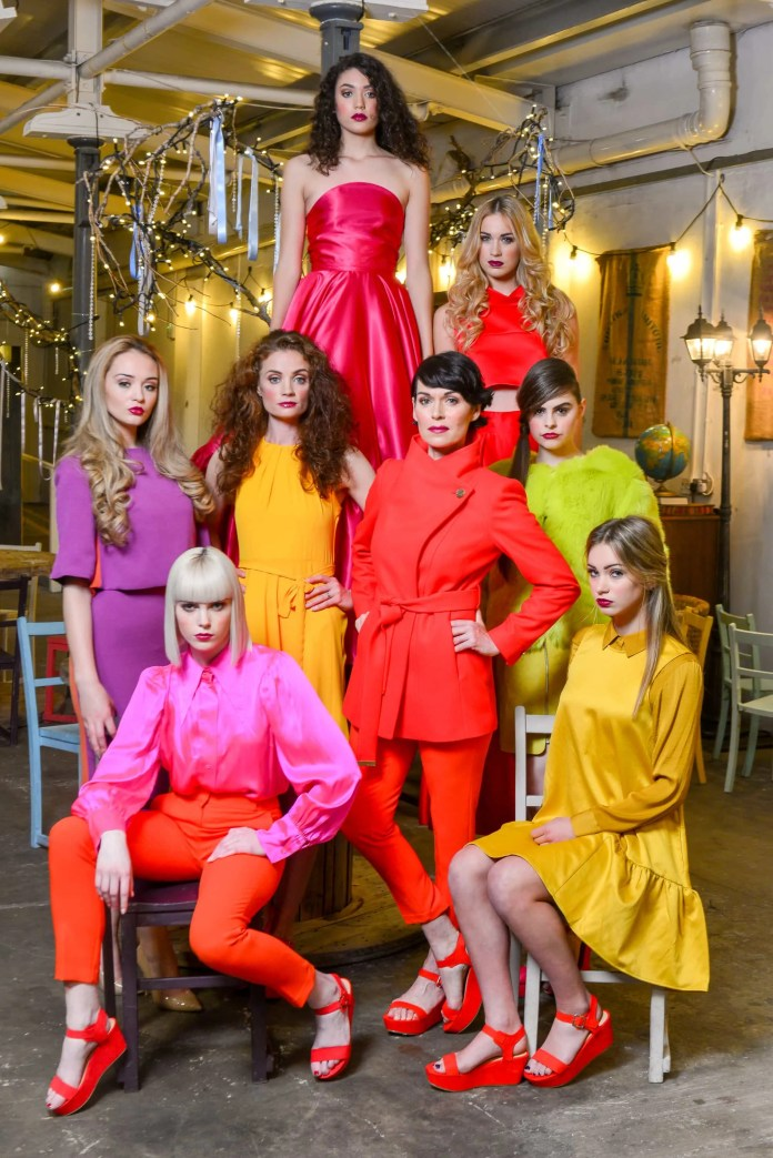 Models Stefania, Darcy, Aimee, Colette, Nuala, Nerissa, Claire, and Ashleigh in clothing from Deux Cara, M&S, Gordon Donaldson, Dorothy Perkins at CastleCourt, Diamond Dolls and Blush