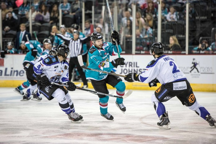 Derrick Walser in action for the Belfast Giants on Saturday night.