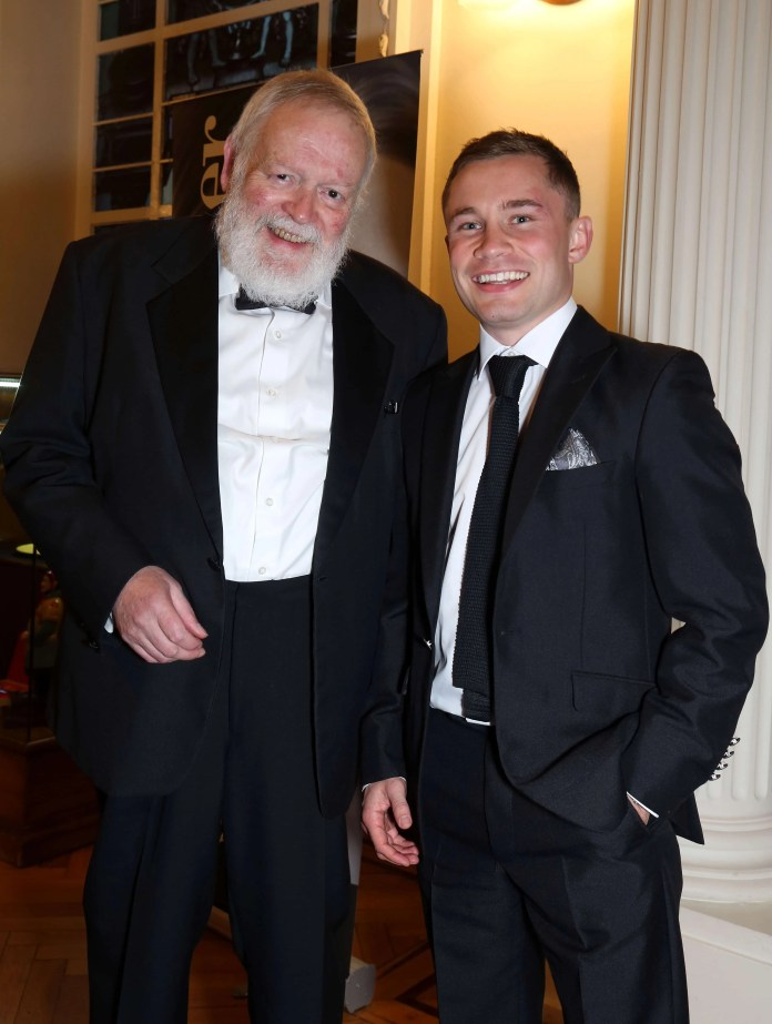 Poet Michael Longley and world champion boxer Carl Frampton