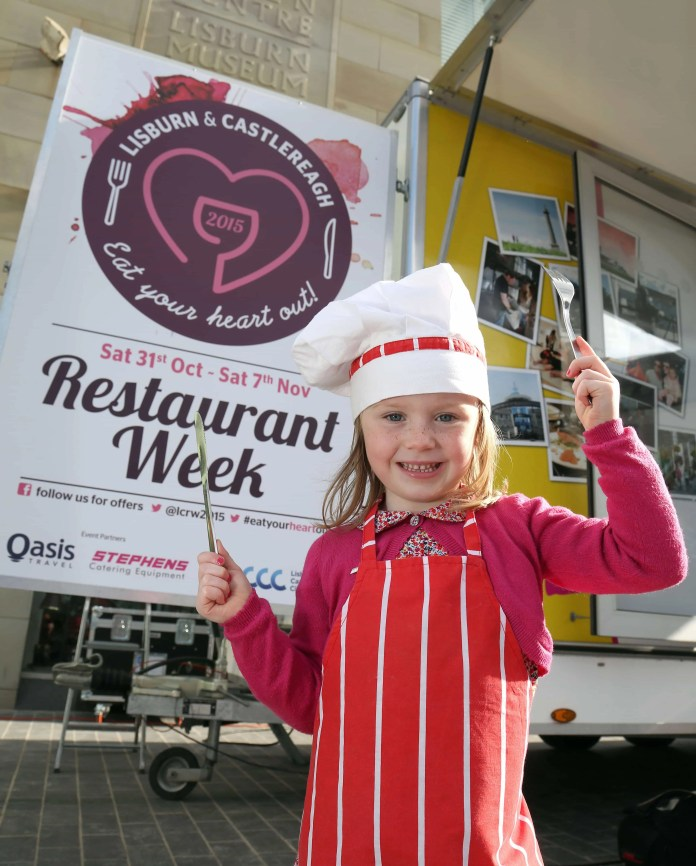 Little Lisburn girl Molly McWilliams, 4, is ready to cook up a storm