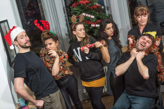 Christmas arrives at the Crescent as the cast of Tinderbox Theatre's festive comedy 'All Through The House' move in to start rehearsing for a cracker of a show. Pictured (L-R) Shaun Blaney, Maria Connolly, Bernadette Brown, Victoria Armstrong, Mary Jordan and Stephen Beggs.