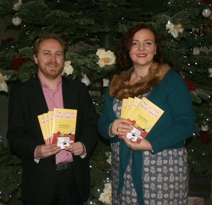 Author Sonia Boal launches her children's book A Letter From Santa at The Great Hall at Parliament Buildings, Stormont. She is joined by Green Party MLA Steven Agnew. A Letter From Santa is published by Excalibur Press Photo (c) Tina Calder / Excalibur Press excaliburbelfast@gmail.com 07982628911