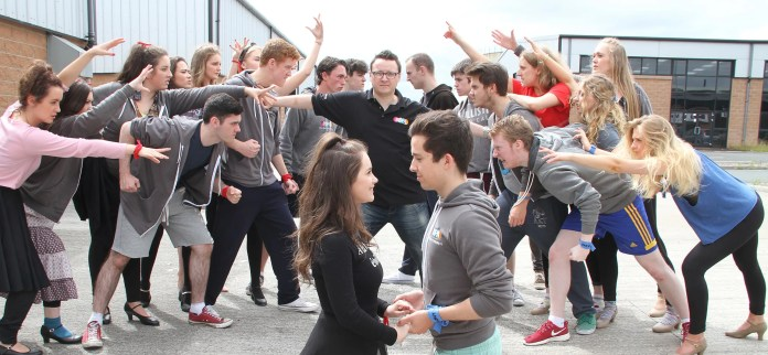 James Huish, Artistic Director with the cast of West Side Story