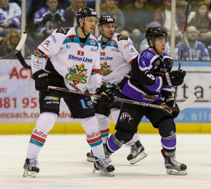 Belfast Giants defeat Braehead Clan3-4 during sudden death overtime in EIHL action at  Braehead on   ,27 December , Picture: Al Goold (www.algooldphoto.com)