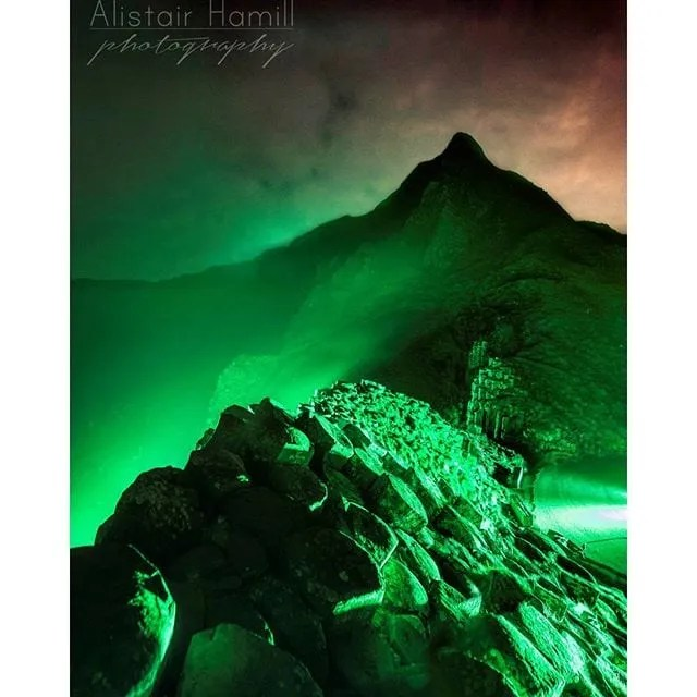The Giant's Causeway goes green for St Patrick's Day!
