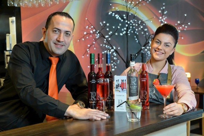 Ionut Danaila (Assistant Manager - Alfredo's on the Square) & Lauren Snoddy (Sales & Marketing Manager - Hughes Craft Distillery)