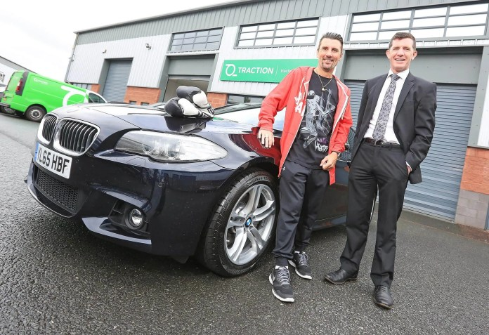 """KNOCKOUT FLEET MANAGEMENT COMPANY PUNCHES ABOVE ITS WEIGHT IN THE LEASING MARKET Former WBC World Champion boxer Wayne McCullough got behind the wheel of a top of the range BMW, with the help of Andrew McCormick from local fleet management company Traction Finance today.   Punching above its weight in the leasing market, Traction Finance is renowned across the United Kingdom and Ireland for delivering bespoke hire options for businesses and individuals.   Wayne said: """"I'm only home for a few days with the family so it was important for me to source a knockout vehicle quickly and without any hassle.  Traction Finance took the work out of the search for me allowing me more time to enjoy driving around Northern Ireland.""""    Traction Finance operates throughout the United Kingdom and Ireland.  They specialise in tailor made transport strategies to suit all businesses from sole traders to multinationals.www.tractionfinance.com   Ends Media enquiries: Nicola Bothwell t 07590 606727 e nicola@nbcharteredmarketing.com"""