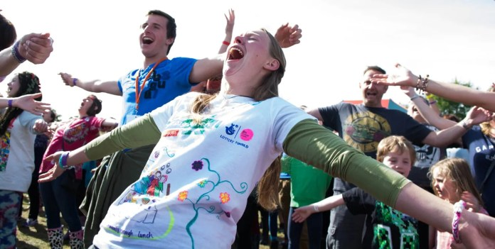 Northern Ireland's leading music and arts festival, Sunflowerfest, which runs from 5th – 7th August 2016 at Tubby's Farm, Hillsborough, will be teaming up with advocates of Laughter Yoga to co-host another Guinness World Record attempt for the Largest Laughter Yoga class! Having won the title in 2014, the festival was moved off the top spot last year by a group in Hong Kong who set a new record.     While over 400 people participated to break the laughing record in 2014, this year the festival aims to beat the current record of 1030 and needs people to come to Sunflowerfest's Main Arena and join organisers Kathy Barenskie, Nuala McKeever, and Irish singing duo the Twisted Sisters in a 30 minute laughter yoga class on Sunday 7th August at 11am, to 'laugh' their way back to the title. For further information and to purchase tickets visit www.sunflowerfest.co.uk