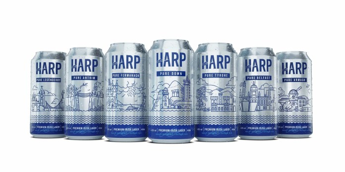 Harp Pure Here cans - line up