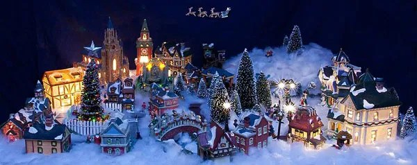 christmas decorations village