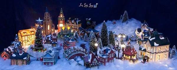 christmas decorations village