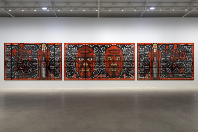 One of the world's most recognisable and provocative artistic duos Gilbert & George opened their most significant exhibition in Ireland in almost 20 years at the MAC, Belfast, last night.