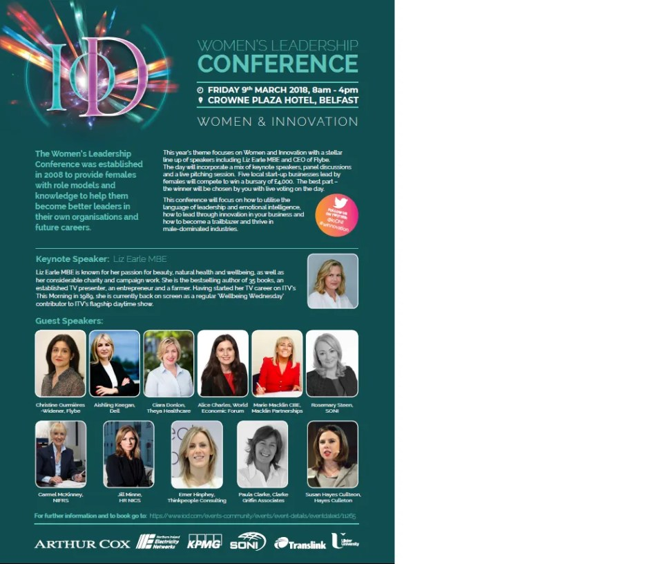 FULL PROGRAMME REVEALS STELLAR LINE-UP FOR IoD WOMEN'S LEADERSHIP CONFERENCE