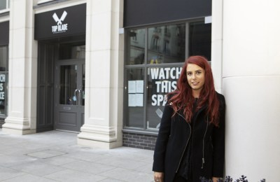 Local businesswoman Zara Peden outside her new restaurant, Top Blade Belfast