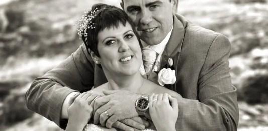 Philomena and John Devine on their wedding day