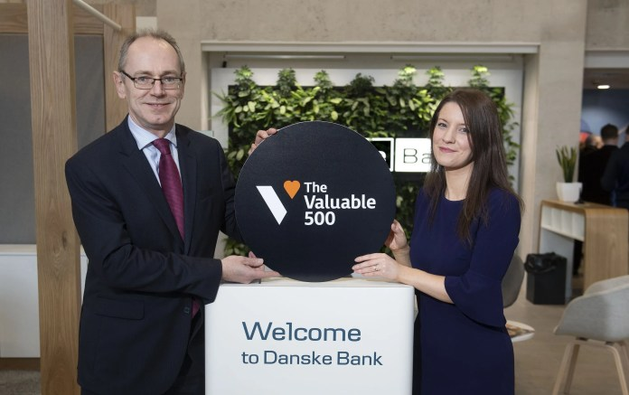 Danske Bank Chief Financial Officer Stephen Matchett and Danske Bank Employee Experience Consultant Donna-Marie Gill.