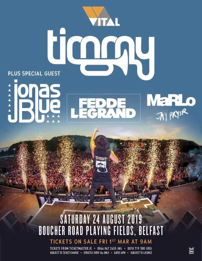 Timmy Trumpet Belfast Vital