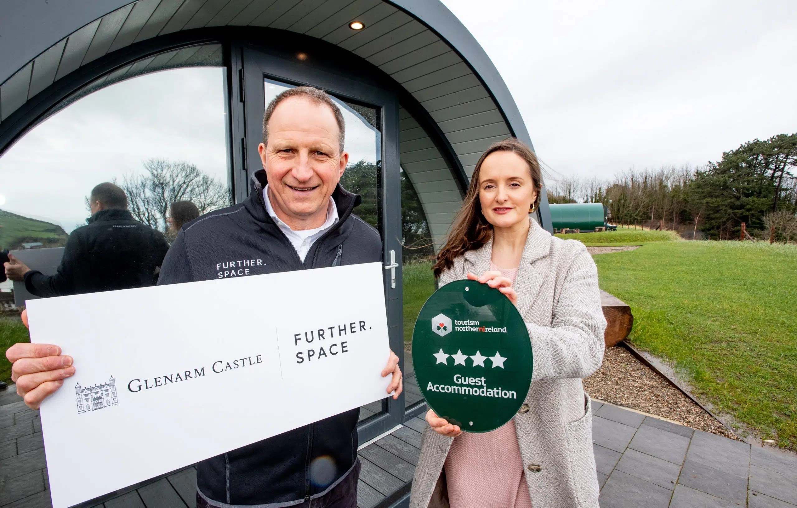 Glenarm Castle Glamping Pods Awarded Four Stars by Tourism NI