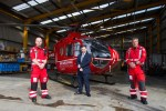 Health Minister visits Air Ambulance NI operational base