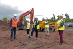 Minister Hargey cuts the sod on new £6.5million shared housing scheme
