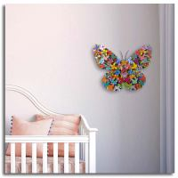 Kids wall art, beautiful 3D butterfly, personalized by you