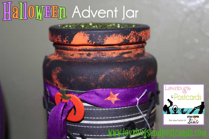 Halloween Advent Calendar in a Jar