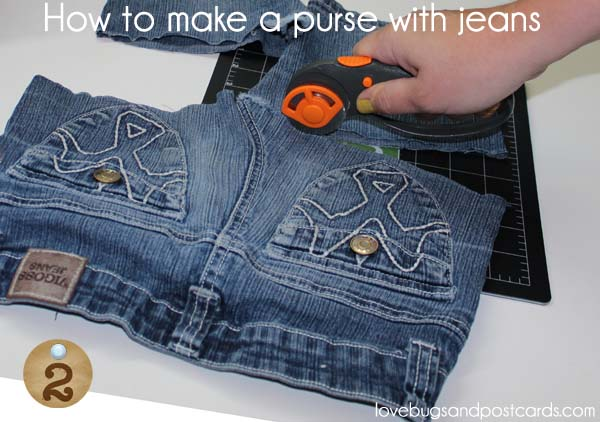 How to make a purse with jeans - Step 2