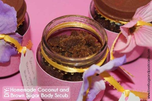 DIY: Homemade Sugar Scrub (brown sugar and coconut oil)