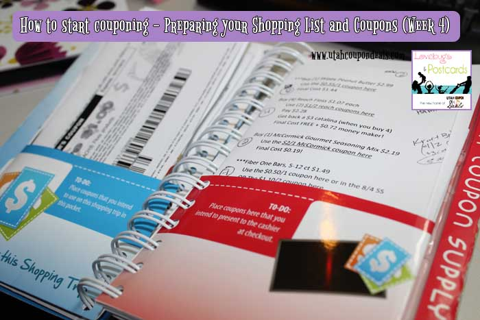 How to start couponing - Preparing your Shopping List and Coupons (Week 4)