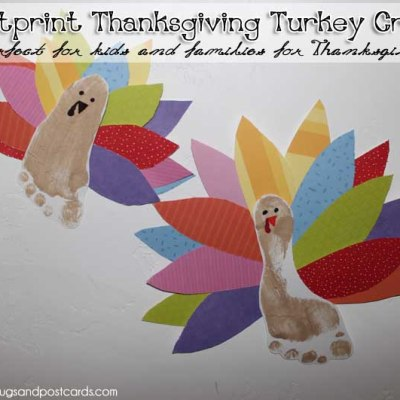 Footprint Thanksgiving Turkey Craft