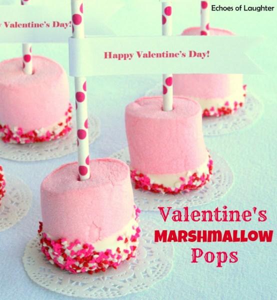 10 Valentine's Day Food & Treats - Valentine's Marshmallow Pops
