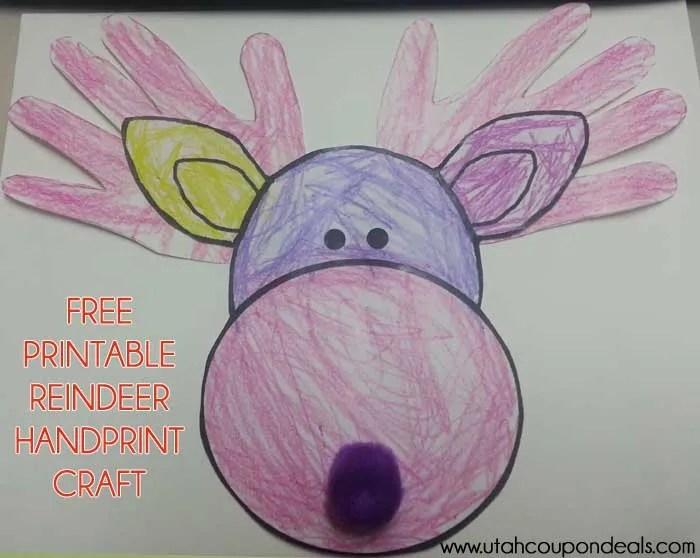 Printable Reindeer Craft (Antlers or Handprints)