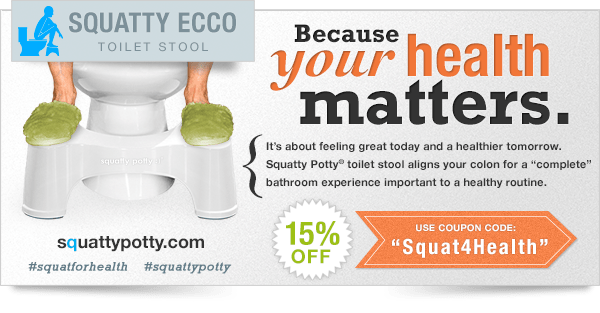 The Squatty Potty Review and 5 Reasons why you should really eat an apple a day #squatforhealth