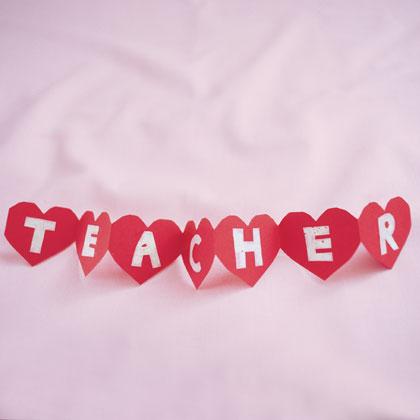 Teacher Heart Valentine's Day Card