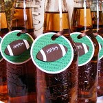 Super Bowl Football Tags for Beverages