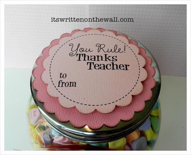 Valentine Candy Jar for Teachers