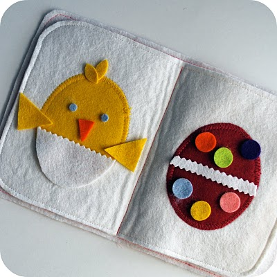 15 Easter Craft Ideas {chicks, bunnies, lambs, and more} - Felt Egg Design Quiet Books