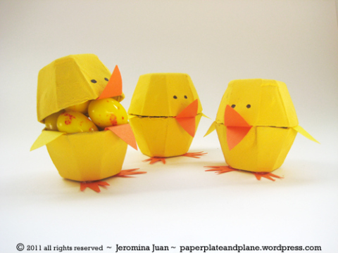 15 Easter Craft Ideas {chicks, bunnies, lambs, and more} - Easter egg carton chicks