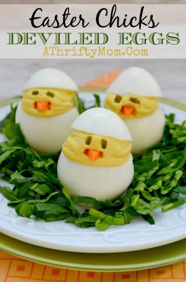 Easter Chicks Deviled Eggs Recipe