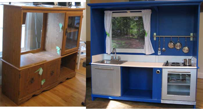 10 {Amazing} DIY Kids Play Kitchen Ideas/Projects ...