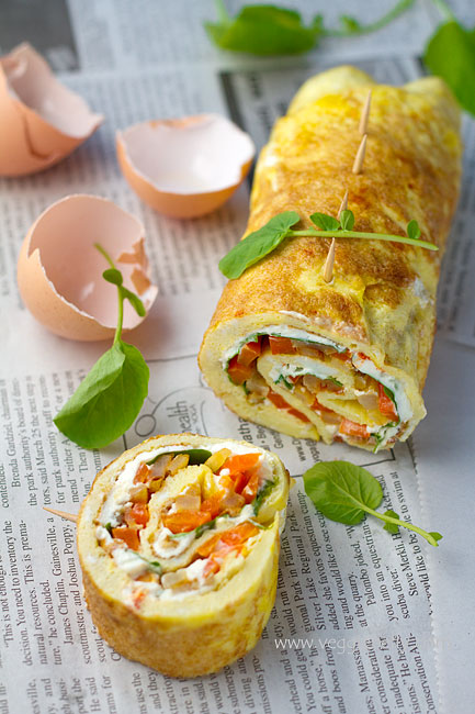 Omelette Rollups Recipe