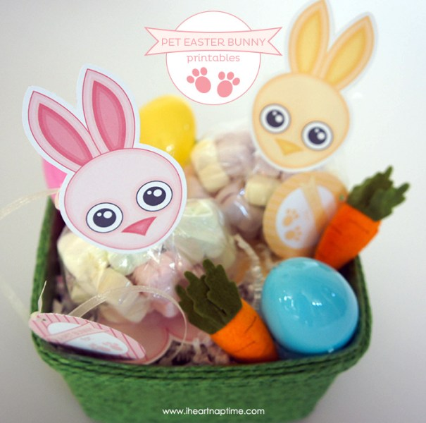 Pet Easter Bunny Treat Bags with Free Printables