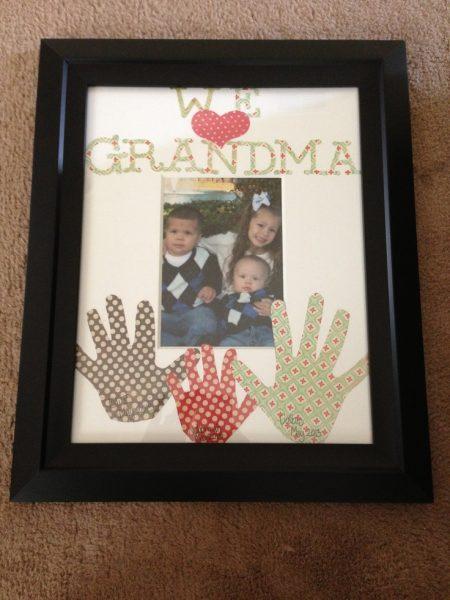 We Love Grandma Hand Print Frame