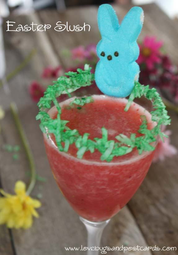 Easter Slush with Coconut Rim